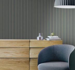 3705 Serie | Papel pintado a rayas delicado pequeño