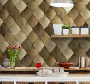 Serie 1619 | Fondo de pantalla de azulejos de madera satinada