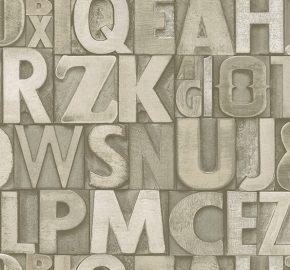 4704 Serie | Tipografía atrevida papel pintado de estilo moderno