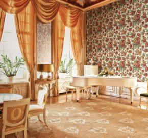 5806 Serie | Papel tapiz floral rosas florecientes