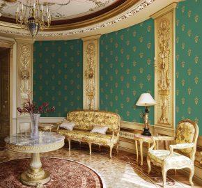 5807 Serie | Papel pintado clásico del ornamento delicado
