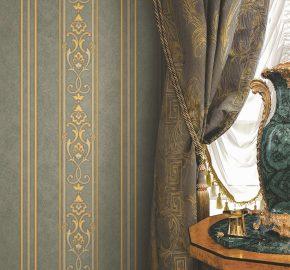 6805 Serie  Papel pintado clásico con adornos de rayas