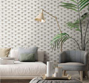 Serie 7814 | Fondo de pantalla de patrón de pared de ladrillo redondeado 3D