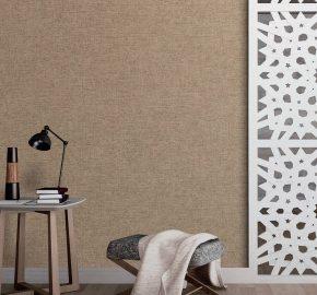 7816 Serie  Papel pintado liso de lino con textura textil.