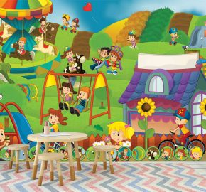 Jardín niños colores  kids-  M 1039