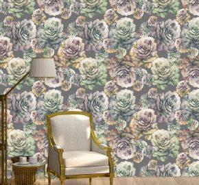Flores rosas y moradas-  M 1002